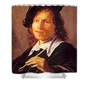 Portrait Of A Man 1640 Shower Curtain