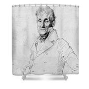 Portrait Of A Man Possible Edma Bochet Shower Curtain