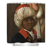 Portrait Of A Man Wearing A Turban Shower Curtain