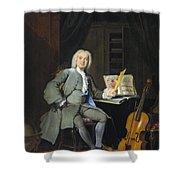 Portrait Of A Member Of The Van Der Mersch Family, 1736 Shower Curtain