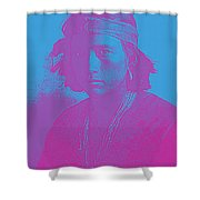 Portrait Of A Navajo Youth 4 Shower Curtain