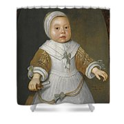 Portrait Of A One-year-old Girl Of The Van Der Burch Family Three-quarter Length Shower Curtain