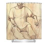 Portrait Of A Parasi Lady Shower Curtain