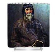 Portrait Of A Peasant 1889 Ilya Repin Shower Curtain