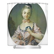 Portrait Of A Pensionnaire Of The King Shower Curtain
