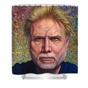 Portrait Of A Serious Artist Shower Curtain by James W Johnson