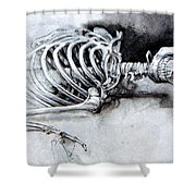 Portrait Of A Skeleton Shower Curtain