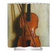 Portrait Of A Violin Shower Curtain