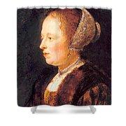 Portrait Of A Woman 1640 Shower Curtain