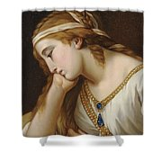 Portrait Of A Woman As An Allegorical Figure Shower Curtain