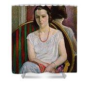 Portrait Of A Woman Shower Curtain by Henri Lebasque