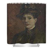 Portrait Of A Woman Paris  March  June 1886 Vincent Van Gogh 1853  1890 Shower Curtain