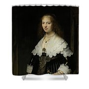 Portrait Of A Woman - Possibly Maria Trip Shower Curtain