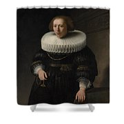 Portrait Of A Woman Probably A Member Of The Van Beresteyn Family Shower Curtain
