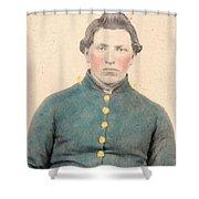 Portrait Of A Young  Civil War Soldier 3 Shower Curtain
