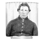 Portrait Of A Young  Civil War Soldier 4 Shower Curtain