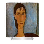 Portrait Of A Young Girl 1910 Shower Curtain