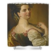 Portrait Of A Young Girl As A Shepherdess Shower Curtain