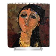 Portrait Of A Young Girl Louise 1915 Shower Curtain