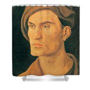 Portrait Of A Young Man 1500 Shower Curtain
