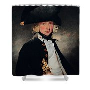 Portrait Of A Young Midshipman Sir Henry William Beechey Shower Curtain