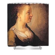 Portrait Of A Young Woman 1640 Shower Curtain