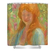 Portrait Of A Young Women In Garden 1912 Shower Curtain