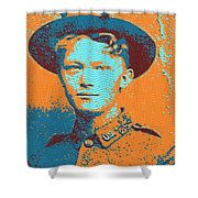 Portrait Of A Young  Wwi Soldier 4 Shower Curtain
