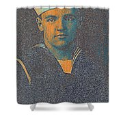 Portrait Of A Young  Wwi Soldier Series 10 Shower Curtain