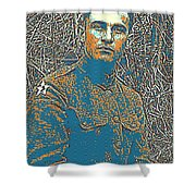 Portrait Of A Young  Wwi Soldier Series 16 Shower Curtain