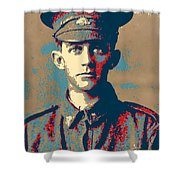 Portrait Of A Young  Wwi Soldier Series 19 Shower Curtain