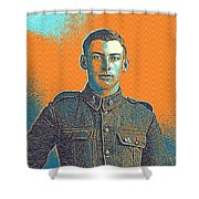 Portrait Of A Young  Wwi Soldier Series 6 Shower Curtain
