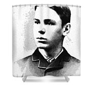 Portrait Of A Youth 35 By Adam Asar -  Asar Studios Shower Curtain