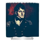 Portrait Of A Youth 46 By Adam Asar -  Asar Studios Shower Curtain