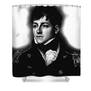 Portrait Of A Youth 48 By Adam Asar -  Asar Studios Shower Curtain