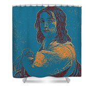 Portrait Of A Youth 50 By Adam Asar -  Asar Studios Shower Curtain