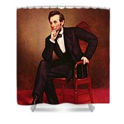 Portrait Of Abraham Lincoln Shower Curtain by George Peter Alexander Healy