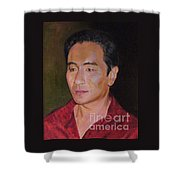 Portrait Of Actor Anthony Brandon Wong Shower Curtain