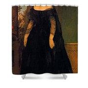 Portrait Of Actress Fanny Janauscher Shower Curtain