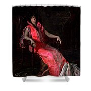 Portrait Of Actress Suzanne Santje Shower Curtain