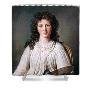 Portrait Of Adelaide Binart Shower Curtain