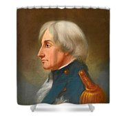 Portrait Of Admiral Lord Nelson Shower Curtain