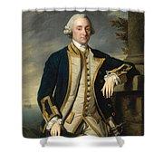Portrait Of Admiral Sir Hugh Palliser 1st Bart Shower Curtain