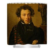Portrait Of Alexander Pushkin 1827 Shower Curtain