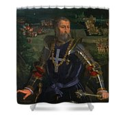 Portrait Of Alfonso I D Este 1530 Shower Curtain