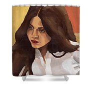 Portrait Of Amelia Shower Curtain