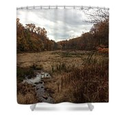Portrait Of America - Trickling Away Shower Curtain