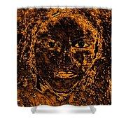 Portrait Of An Ancient Woman Shower Curtain
