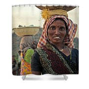 Portrait Of An Indian Lady Shower Curtain
