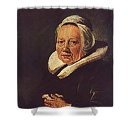 Portrait Of An Old Woman 1645 Shower Curtain